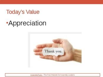 School Assembly on Appreciation