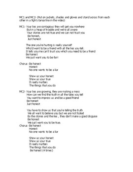 School Assembly script on Honesty