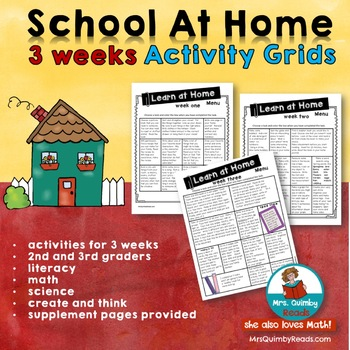 Distance Learning | Choice Grids | Literacy- Math-Science | 3 Weeks