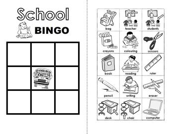 School BINGO Activity