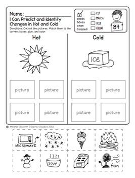 FREEBIE! NO-PREP First Grade Science Doodles Printables