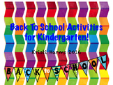 Back to School Printable Activities