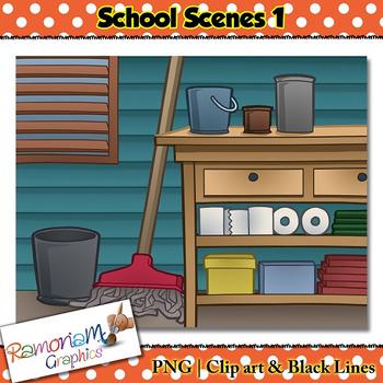 School Background Scenes Clip art