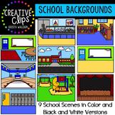 School Background Scenes {Creative Clips Digital Clipart}