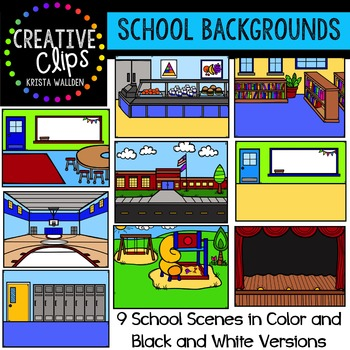 School Background Scenes {Creative Clips Digital Clipart}