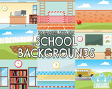 School Backgrounds Clipart (Lime and Kiwi Designs)