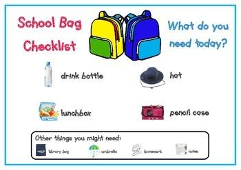 School Bag Checklist