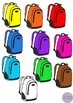 School Backpacks Lunch Bags Back to School Clip Art 30 Images Illustrations