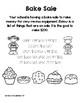 School Bake Sale - life skills activity