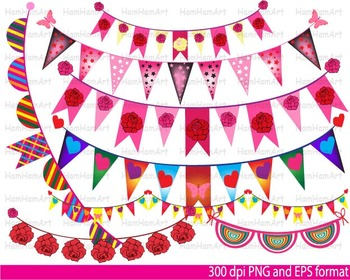 School Banners Clip Art rose Banner color colorful baby birthday party -029-