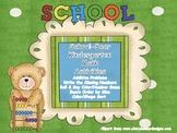 School Bear Kindergarten Math Activities