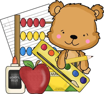 School Bear Single Clipart By Whimsical Inklings