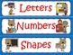 School Bear Sort (Sort letters, numbers, shapes, words, se