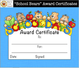 """""""School Bears"""" End of the Year Awards [Marie Cole Clipart]"""
