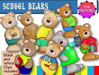 School Bears Clip Art