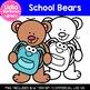 School Bears: Digital Clipart