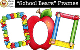 """School Bears"" Frames [Marie Cole Clipart"