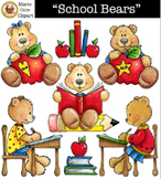 """School Bears"" Images [Marie Cole Clipart]"
