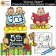 """School Bears"" Preschool to 6th Grade Images [Marie Cole Clipart]"