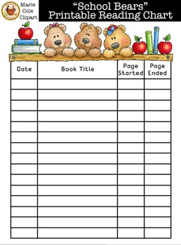 graphic about Printable Reading Chart called \