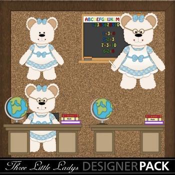 School Bears-White