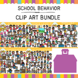 School Behavior Clip Art Bundle {Whimsy Clips School Clip Art}