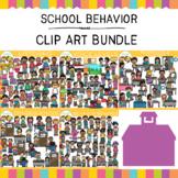 School Behavior Clip Art Big Bundle {Whimsy Clips School Clip Art}