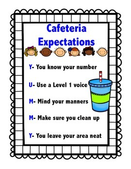 School Behavior Expectations/Rules Posters