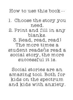 School Behavior Social Stories
