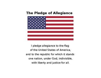 School Binder Helpers (Pledge, Math, Social Studies, Presidents, Cursive, more)