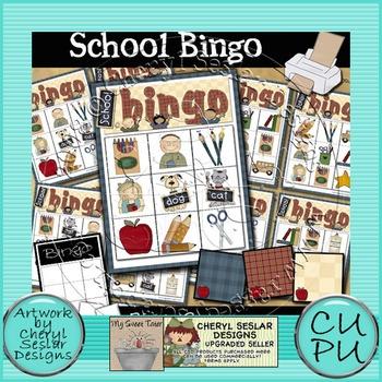 School Bingo Printable