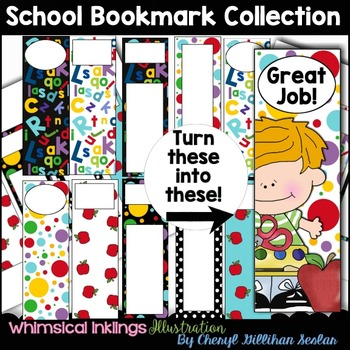 School Bookmark Clipart