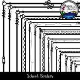 School Borders Clipart Bundle