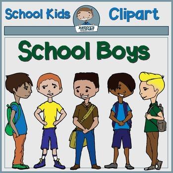 School Boys Clipart