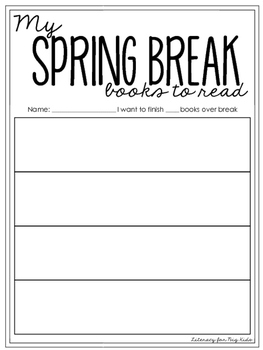 School Break Books to Read (or TBR) Lists