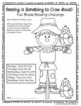 School Break / Holiday Reading Homework Challenges: Bundle Pack