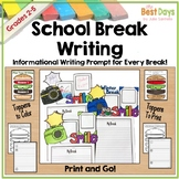 Winter Break Writing Craft: Posters, Planners, and Toppers for ALL BREAKS
