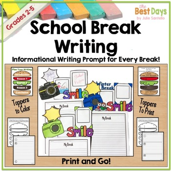 Fall  Break Writing Craft: Posters, Planners, and Toppers for ALL BREAKS