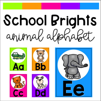 School Brights Animal Alphabet Posters