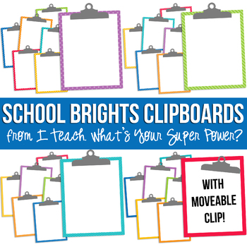 School Brights Clipboards Clipart