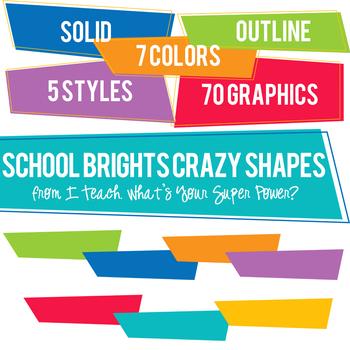 School Brights Crazy Shapes Trapezoids Set