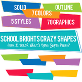 School Brights Crazy Shapes Trapezoids Set