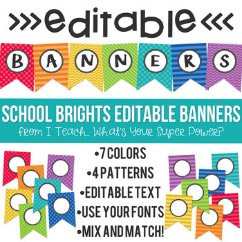 School Brights Editable Banners