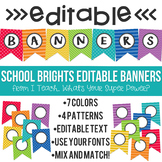 Editable Banners School Brights