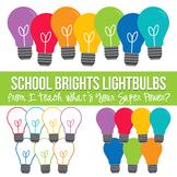 School Brights Lightbulbs Clipart