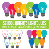 School Brights Lightbulbs Clipart