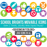 School Brights MOVABLE Icons Clipart