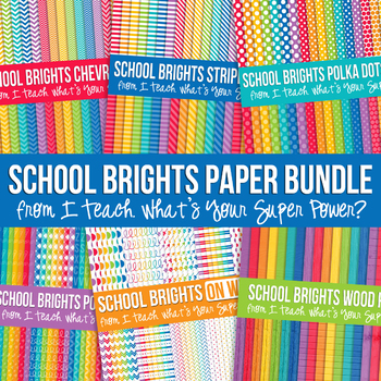 School Brights Mega Digital Paper Pack Volume 2