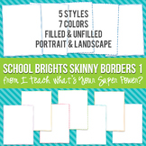 School Brights Rectangle Skinny Borders