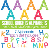 School Brights Set of 7 Alphas